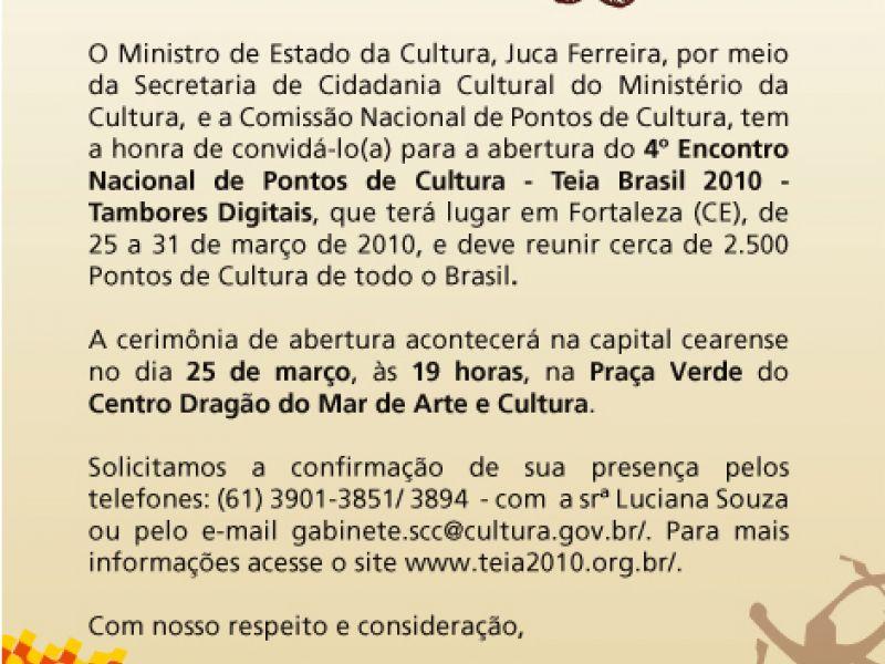 Teia Brasil 2010 - Tambores Digitais.