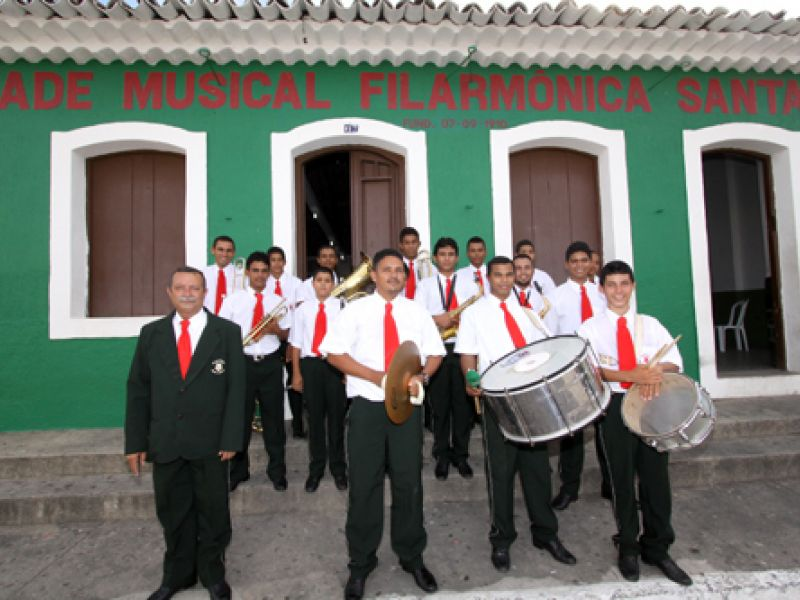 Filarmônica Santa Cecília comemora cem anos de tradição