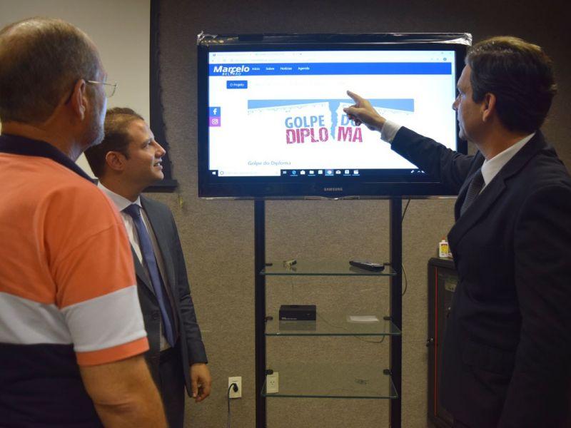 Marcelo Beltrão lança site com área para coletar dados de vítimas do Golpe do Diploma