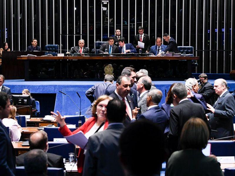 Reforma da Previdência no Senado: Rodrigo votou a favor. Renan e Collor foram contra
