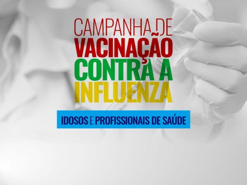 Campanha nacional de vacinação contra gripe inicia nesta segunda, 23