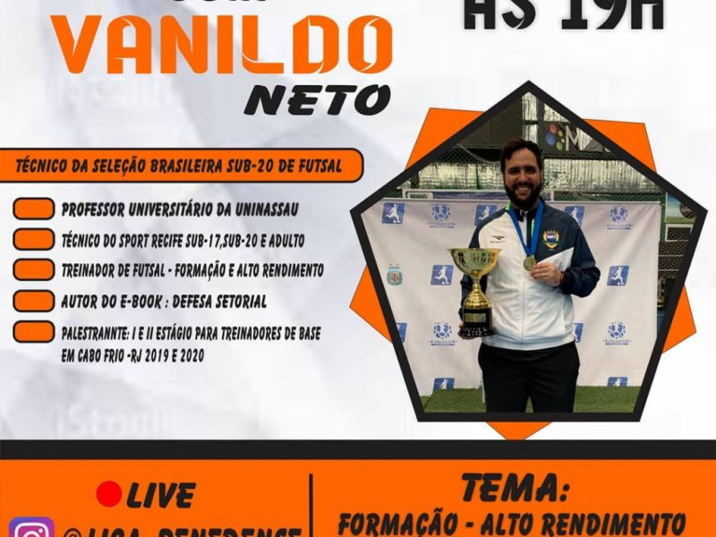 Com torneios adiados, Liga faz live com técnico da Seleção de Futsal