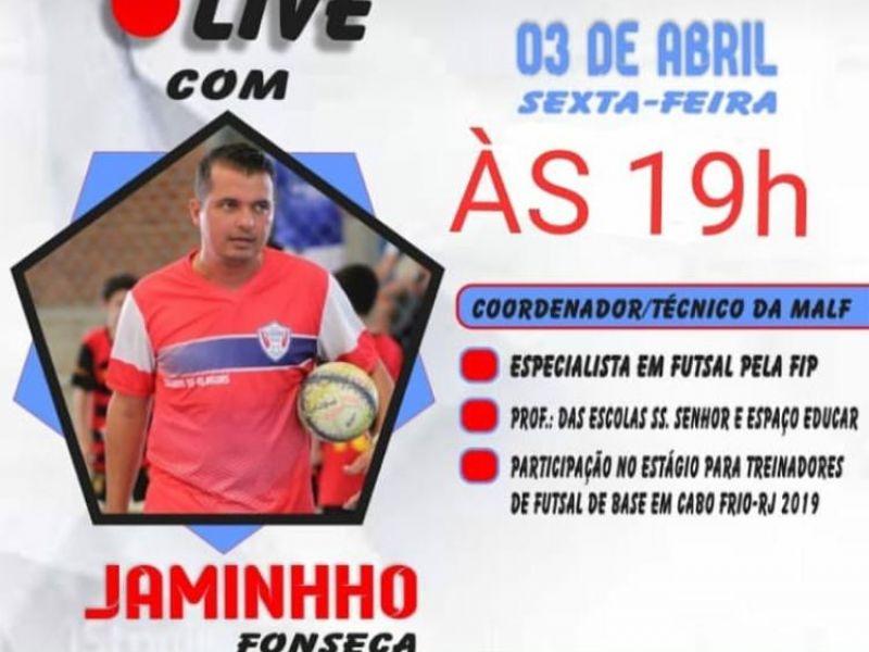Especialista em futsal aborda iniciação no esporte durante live em Penedo