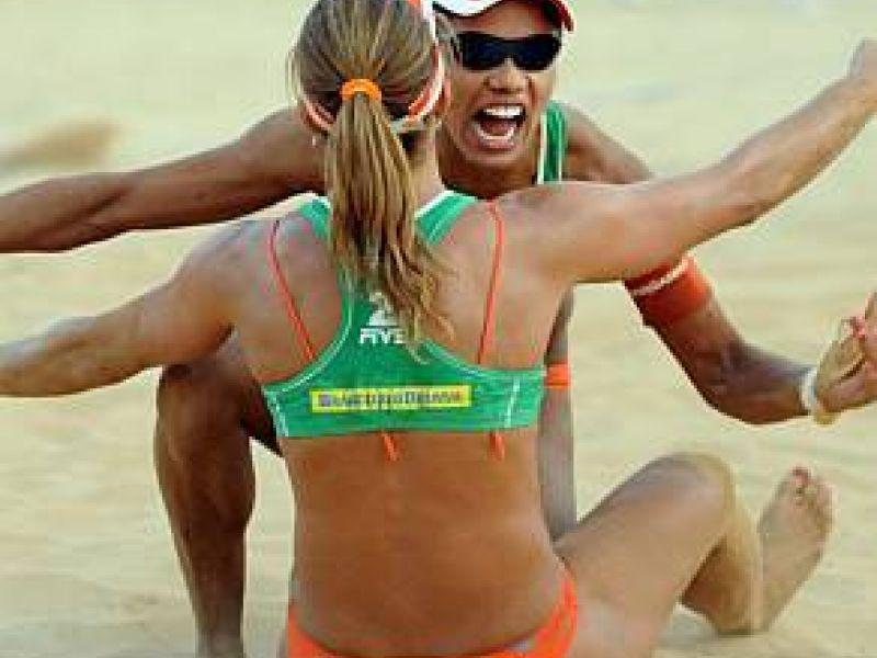Juliana e Larissa estão na final da etapa-Brasília do Mundial