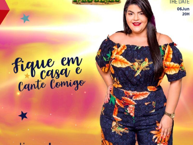 Com repertório de São João, live de Edjane Cruz acontecerá dia 6 de junho em Penedo
