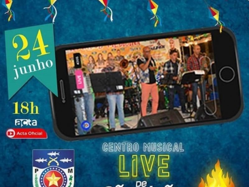 Banda da Polícia Militar realiza live para comemorar o São João