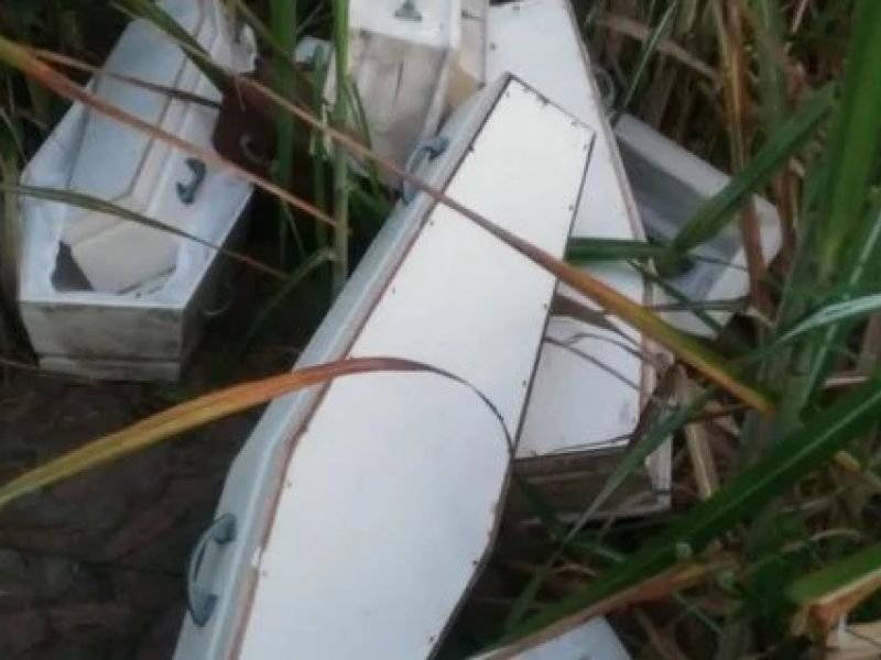 Populares encontram caixões brancos em canavial do município de São Sebastião