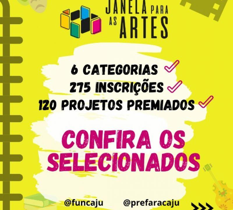 Prefeitura divulga relação de selecionados no edital do programa Janela para as Artes
