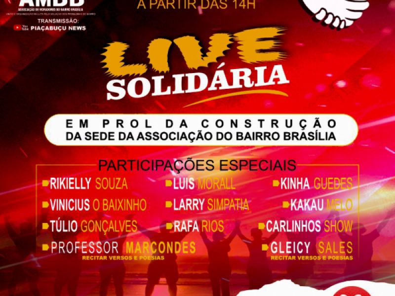 Associação de Moradores realiza live solidária em prol de construção de sede em Piaçabuçu