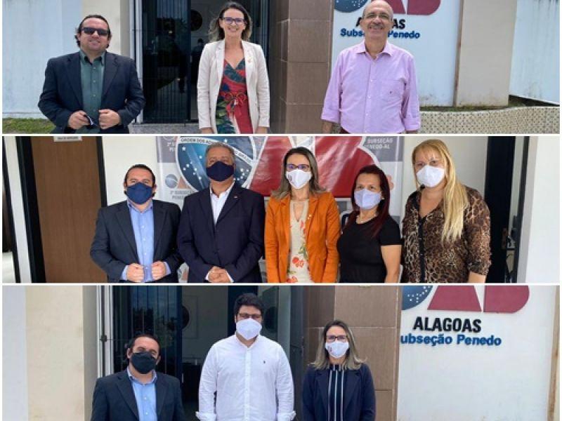OAB realiza bate-papo com pré-candidatos a prefeito da cidade de Penedo