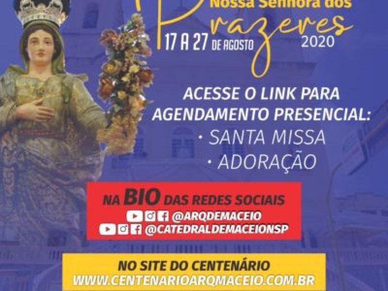 Veja como ter acesso às missas presenciais da Festa de Nossa Senhora dos Prazeres