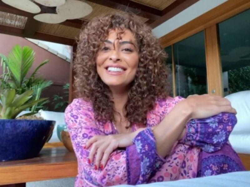 Juliana Paes sobre processo de transição capilar: 'Tem que ter paciência'