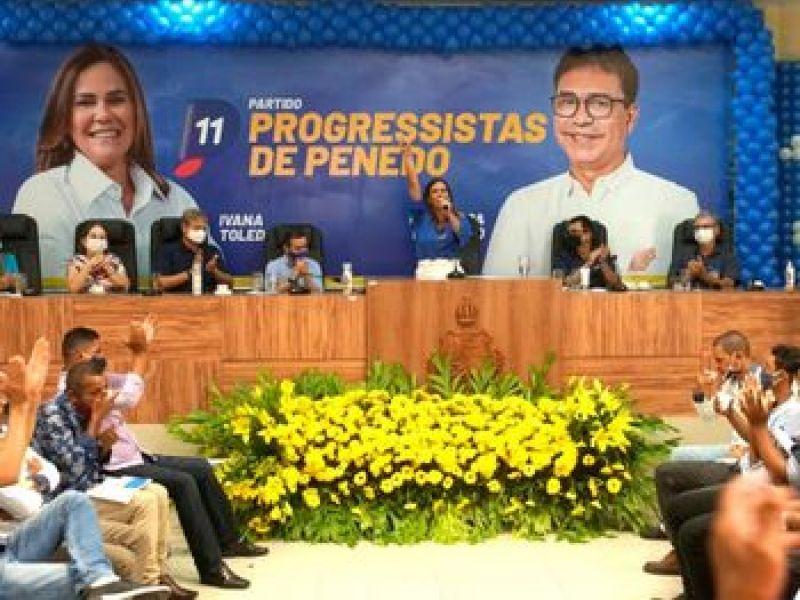 Ivana e Carlos confirmam candidatura durante convenção em Penedo