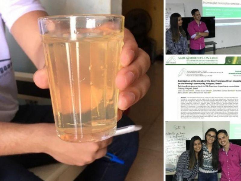 Trabalho de estudantes do Ifal dá visibilidade aos impactos da salinização da água