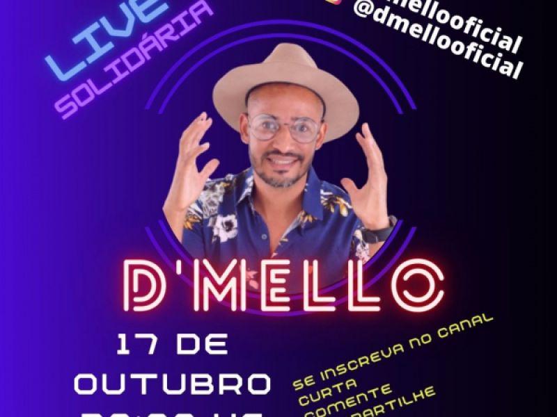 D'Mello comandará live solidária na noite deste sábado, 17, em Penedo