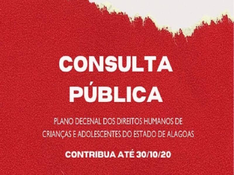 Alagoanos têm até o dia 30 para contribuir com Plano Decenal de Direitos Humanos