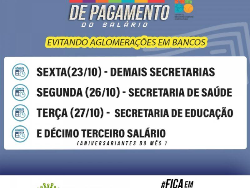 Prefeitura do município de Penedo paga salário de servidores do mês de outubro