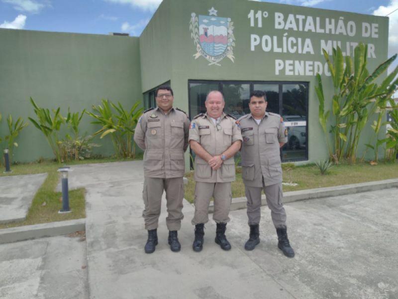 Comandante do Policiamento de Área do Interior visita 11º BPM, em Penedo