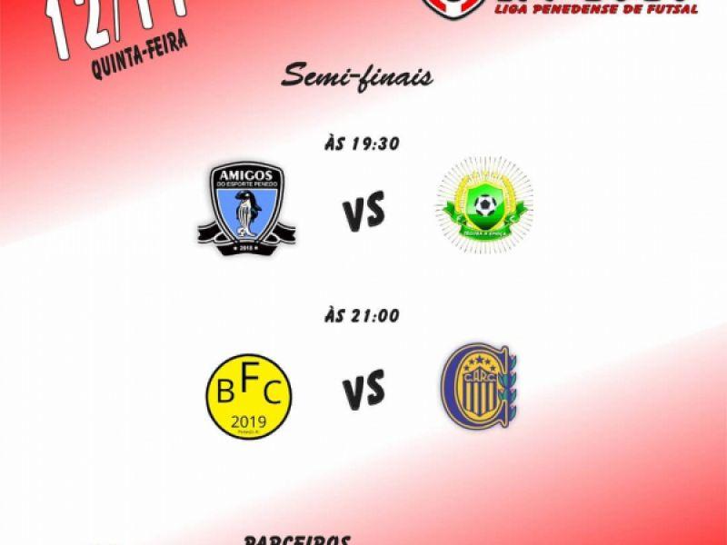Semifinal da 6ª rodada de jogos da Liga Penedense de Futsal acontece nesta quinta, 12