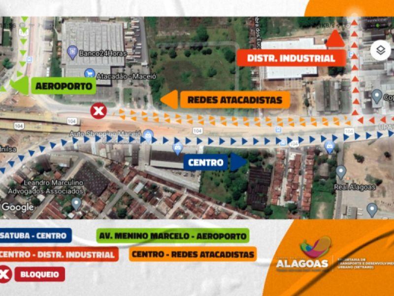 Trânsito nas imediações do Viaduto da PRF sofrerá alterações a partir desta quarta (06)