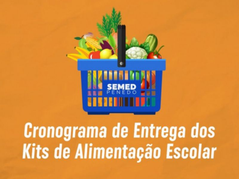 Semed Penedo divulga cronograma de entrega dos kits de alimentação escolar