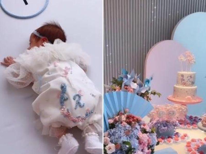 Romana Novais e Alok celebram primeiro mês da filha, Raika