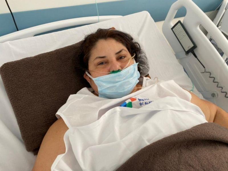 """""""Saí de um inferno e vim para um paraíso"""", diz paciente do AM que foi trazida para realizar tratamento da Covid-19 em AL"""
