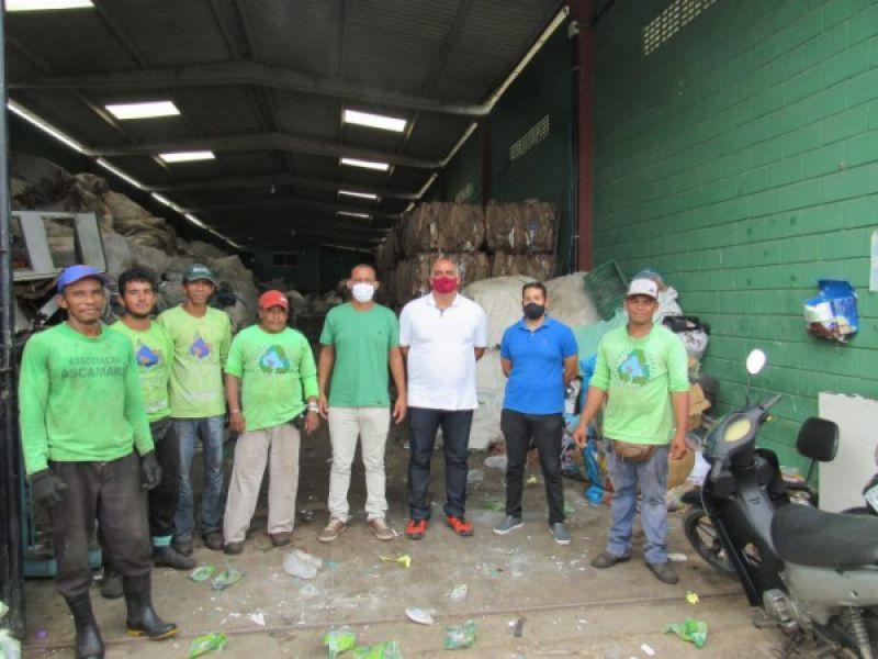 Secretaria de Meio Ambiente de Penedo realiza visita técnica a cooperativa de reciclagem