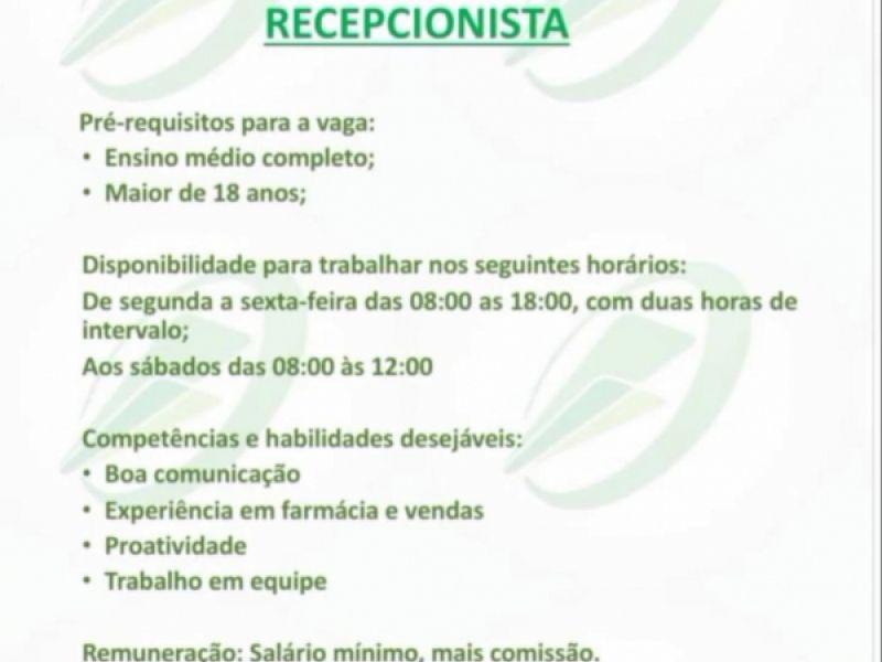 Farmácia que será inaugurada em Penedo oferece mais uma oportunidade de emprego