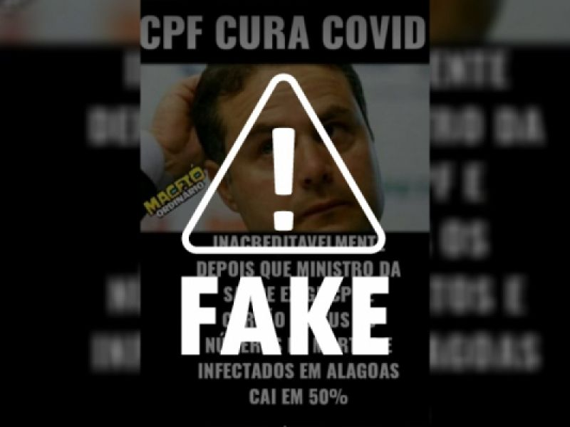 É falso que casos de Covid caíram 50% em AL após exigências do Ministério da Saúde