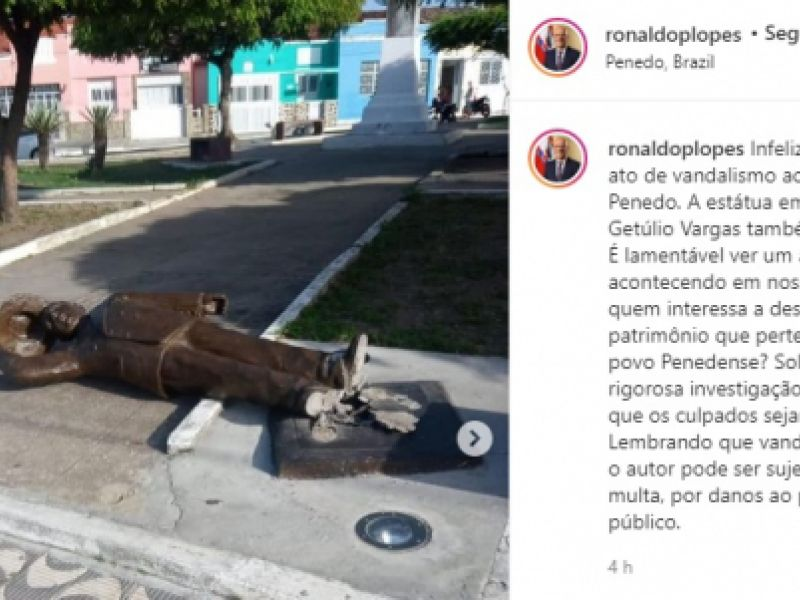 """""""A quem interessa destruir o patrimônio público de Penedo?"""", declara prefeito Ronaldo Lopes"""