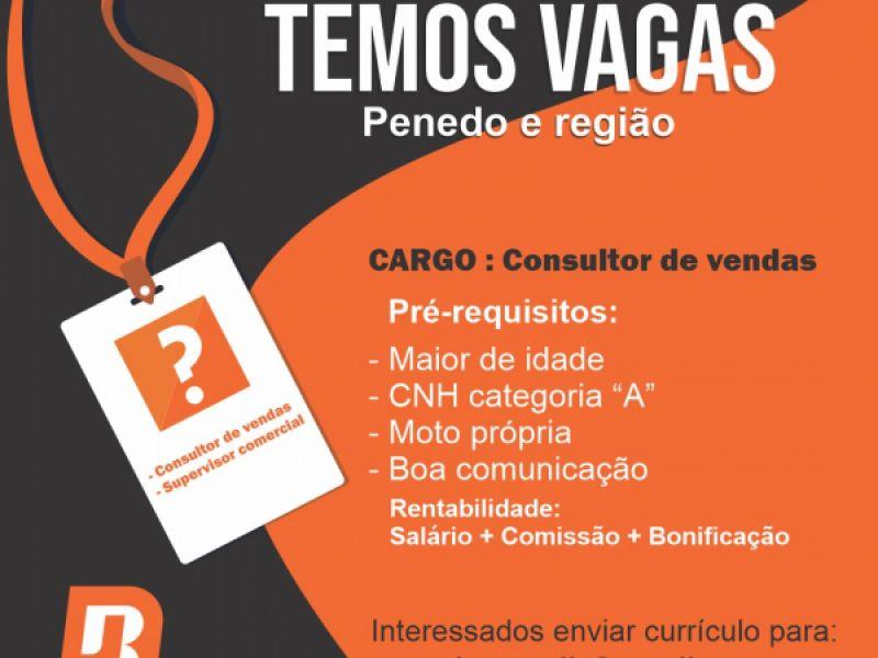 Empresa abre 10 vagas de trabalho de consultor de vendas para Penedo e região