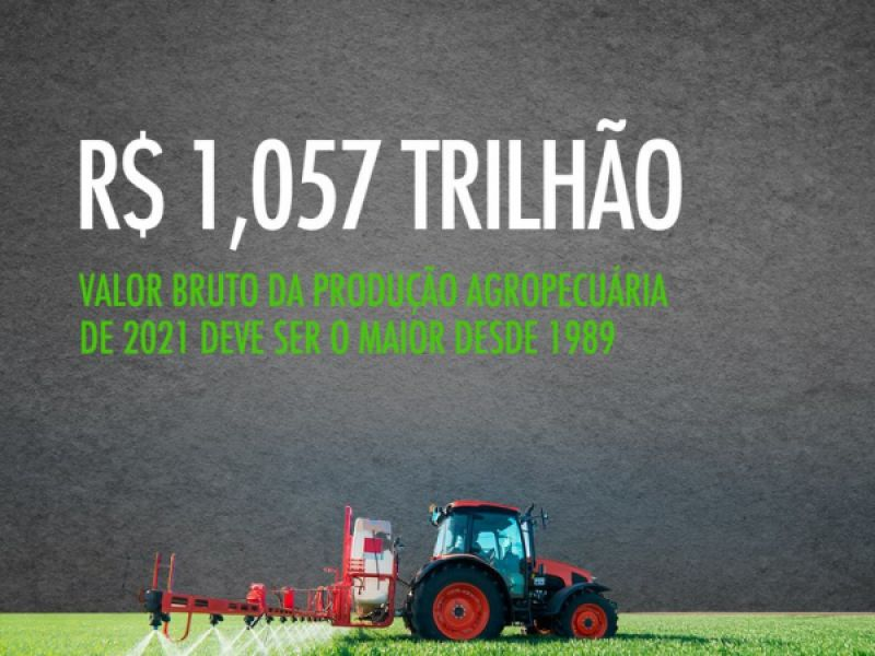 Valor da Produção Agropecuária de 2021 deve ser o maior desde 1989