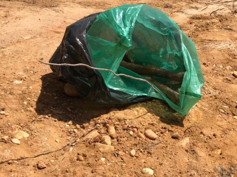 Fio semelhante ao que réu disse ter usado para matar Roberta Dias é achado junto a ossada