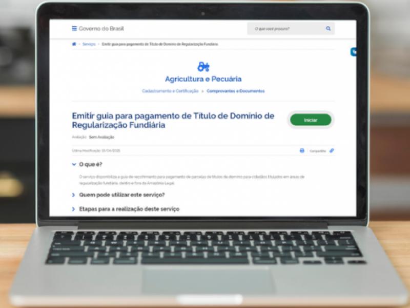 Guias para pagamento de títulos de regularização fundiária podem ser emitidas pela internet