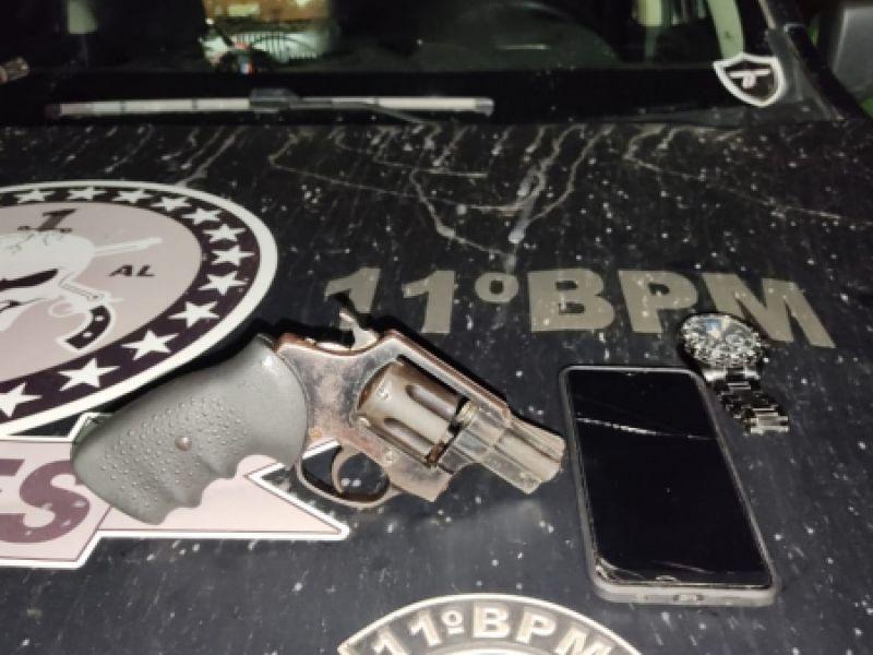 Acusado de praticar roubo na Santa Luzia, em Penedo, é preso por guarnição do 11º BPM