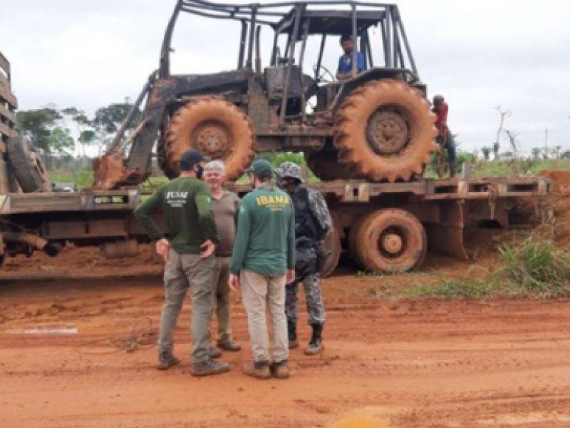 Promovidas ações de combate a ilícitos ambientais em áreas prioritárias