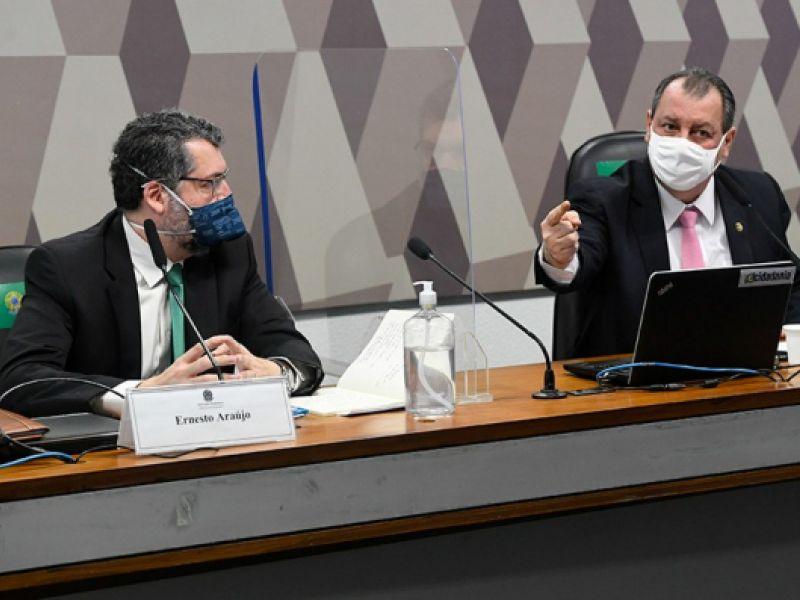 CPI da Pandemia: Ernesto Araújo nega que sua atuação prejudicou compra de vacinas