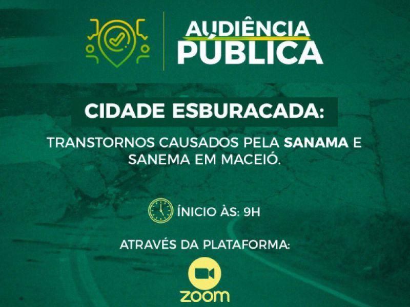 Audiência Pública irá discutir os danos estruturais nas vias de Maceió