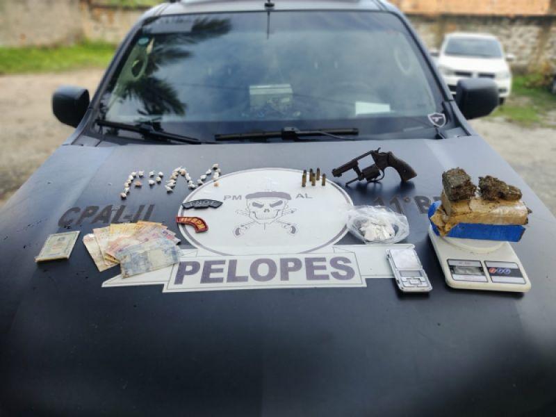 Operação resulta na apreensão de crack, maconha, cocaína e arma de fogo em Coruripe