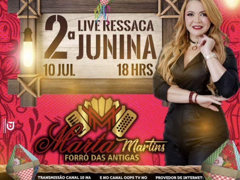 """Marta Martins promete animar noite de forrozeiros penedenses com a """"Ressaca Junina"""""""