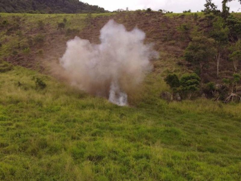 Explosivos apreendidos durante operação em Igreja Nova são destruídos