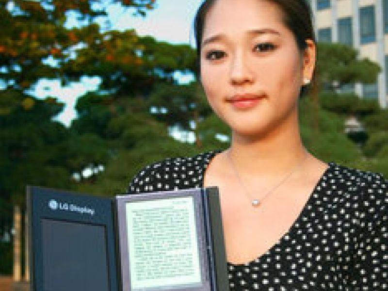 LG divulga o seu novo e-book com célula solar