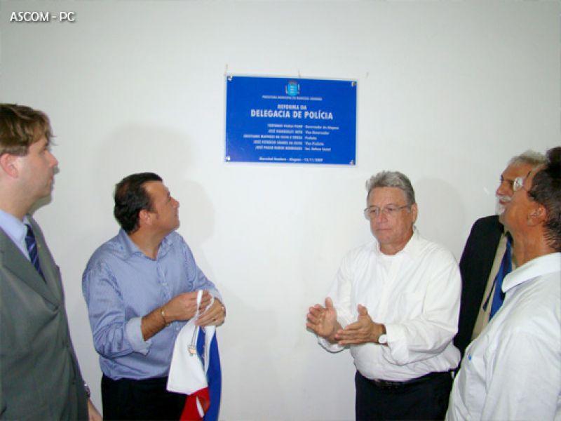 Governador inaugura delegacia e cria companhia da PM em Marechal