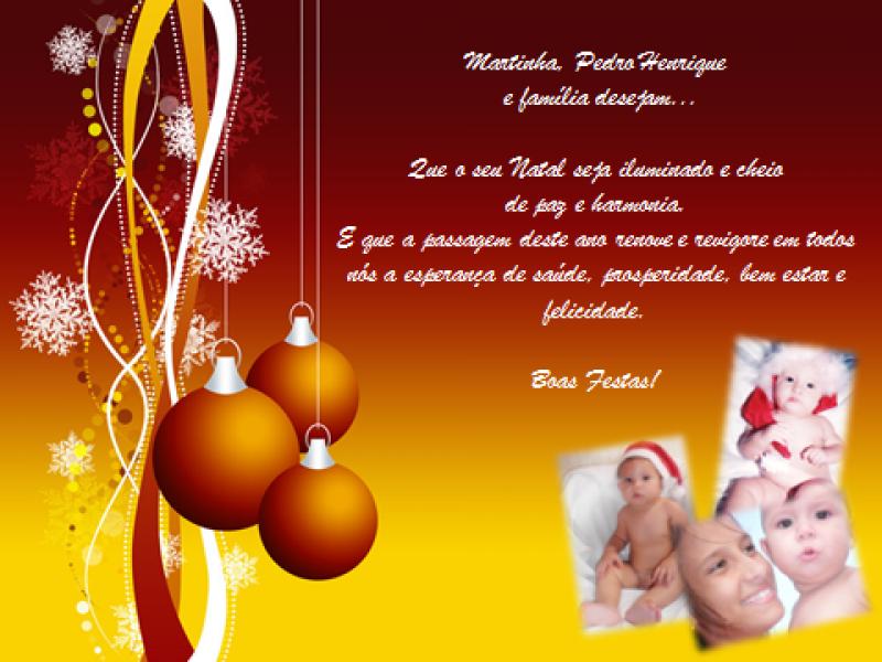 Desejos de Natal. Boas Festas!
